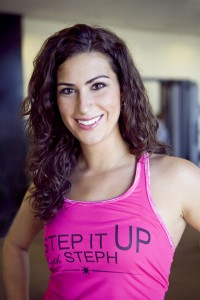 Stephanie Mansour is a Chicago one-on-one yoga instructor, private pilates instructor, and personal trainer for women in Chicago. Founder of Step it Up With Steph.