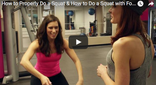 Weight Loss Workouts for Women: How to Properly Do a Squat   Step It ...