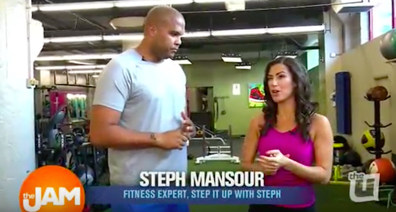 fitness expert stephanie mansour on the jam
