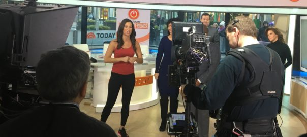 Stephanie Mansour at The Today Show studio